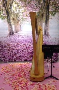 Toronto Harpist Joanna Jordan playing for Kleinfelds Opening