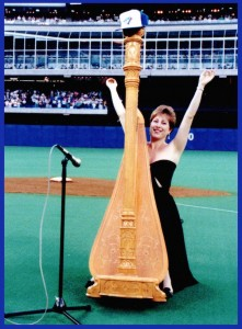 Toronto Harpist Joanna Jordan playing for Toronto Blue Jays Rogers Centre